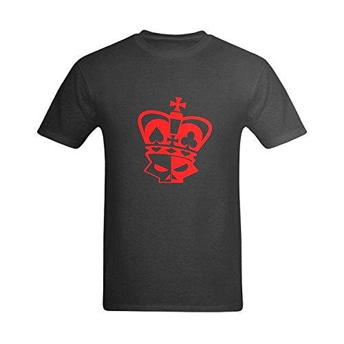 LittleArt Men's Poker Symbol Skull T-Shirt - Nerd Tshirt US Size 5