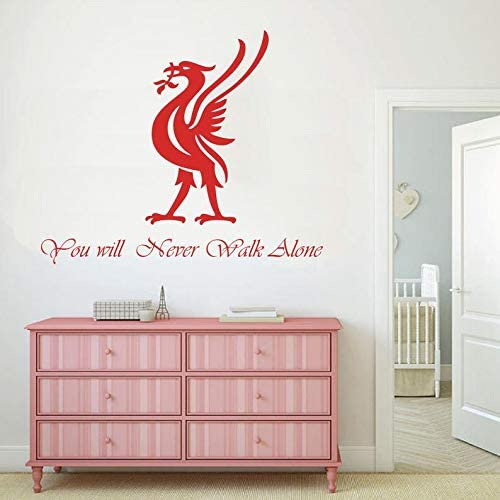 Any Sizes Stickers for Fans//Youll Never Walk Alone 14 FC Liverpool Footboll Soccer Decal Vinyl