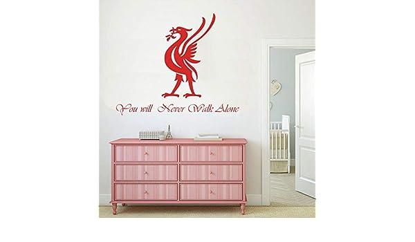 Liverpool Wall Decal Sticker Football European Cups Six Times Kids Bedroom