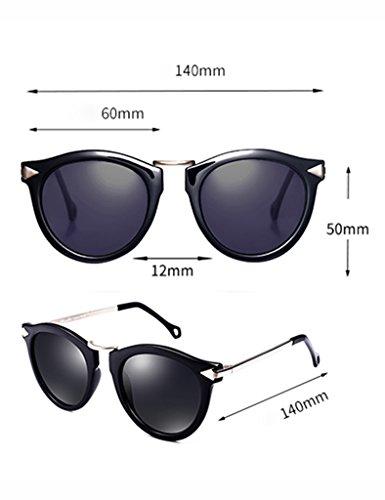 de Lunettes Fashion Ms de D Soleil Polarizer Glasses A Lunettes Soleil Retro Couleur rWtWS6