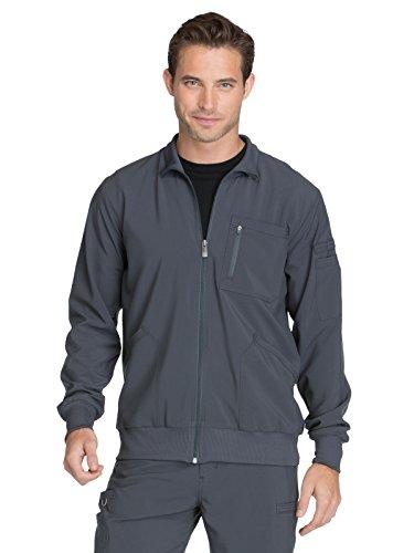 Cherokee Infinity CK305A Men's Zip Front Warm-Up Jacket Pewter L
