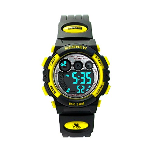 Kids Sports Watches Children For Girls Boys Waterproof Military Dual Display LED Kids Watch Yellow