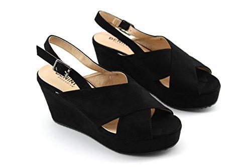 Modelisa - Sandalias Cuña Mujer Negro
