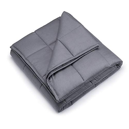 Weighted Blanket 18lbs, 60''x80''Queen Size for Adult Women and Men Heavy Blanket New Concept of Sleep Comfortable Breathable Cotton Material Warm and Close-Fitting