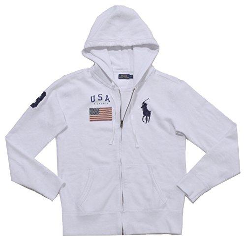 Polo Ralph Lauren Womens Full-Zip Big Pony Hoodie Sweatshirt (L, - Ralph Lauren Polo Usa