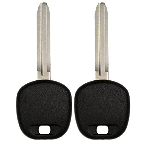 Keyless2Go New Uncut Replacement Transponder Ignition 4C Chip Car Key TOY43 (2 Pack) ()