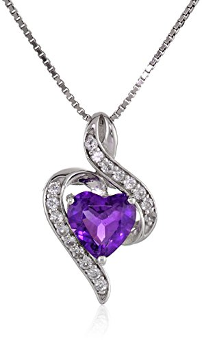 Girl Heart Shaped Top Grade Contracted Crystal Necklace