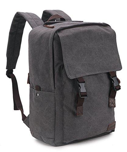 Canvas Backpack for Men,RAVUO 15.6 inch Water Resistant Vintage Laptop Backpack Casual Bookbag Travel Rucksack