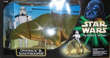 Star Wars 32  Power Of The Force Action Collection Dewback   Sandtrooper