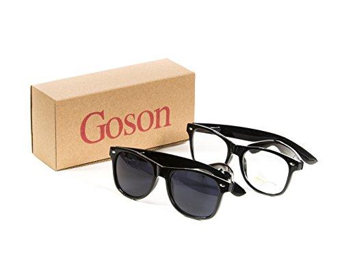 Goson Neon Color Mirror Classic Horn Rimmed Sunglasses