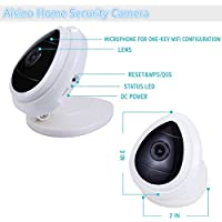 Aisino Home Security 720P HD Mini IP Camera Wifi Wireless Surveillance indoor Cam Network System for Baby/Elderly/Pet/Nanny Care Monitor(1 Pack)