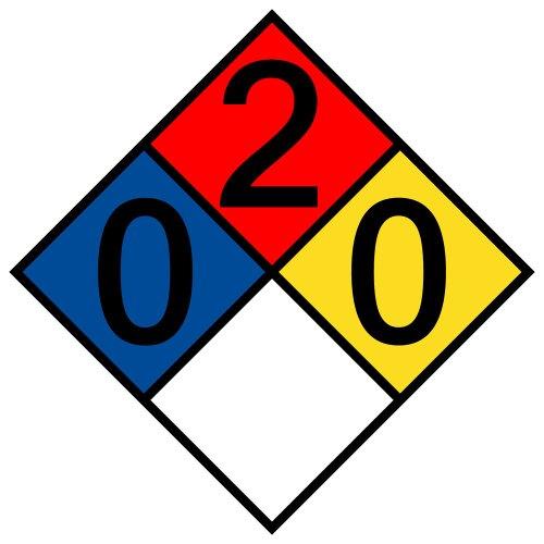 compliancesigns-vinyl-nfpa-704-hazmat-diamond-label-with-0-2-0-0-rating-10-x-10-in-multi-color
