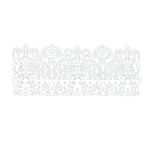 (LightclubVintage Lace Border DIY Scrapbook Greeting Card Gift Embossing Stencil Decor -)