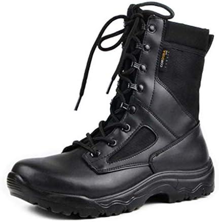 屋外アサルトブーツのCortex防水ファブリックラバーソール黒のレースアップの軍事戦術的なブーツのスタイルの滑り止め耐摩耗 (色 : 黒, サイズ : 24.5 CM)