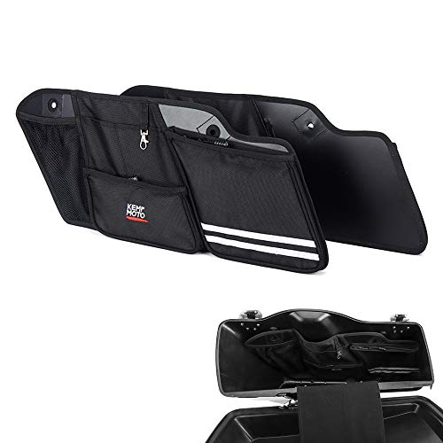 Street Glide Saddlebag Organizers, 2 Pack for 2014-2018 2019 2020 Road King Road Glide Electra Glide Saddle Bag Organizers