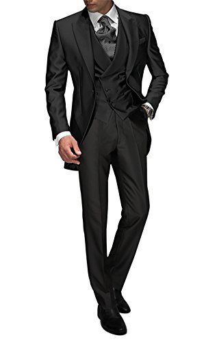 Smoking Pantalones Men Me Boda Chaqueta Suit Charcoal Tailored Traje Piezas 3 La Chaleco De gwx8nAq4