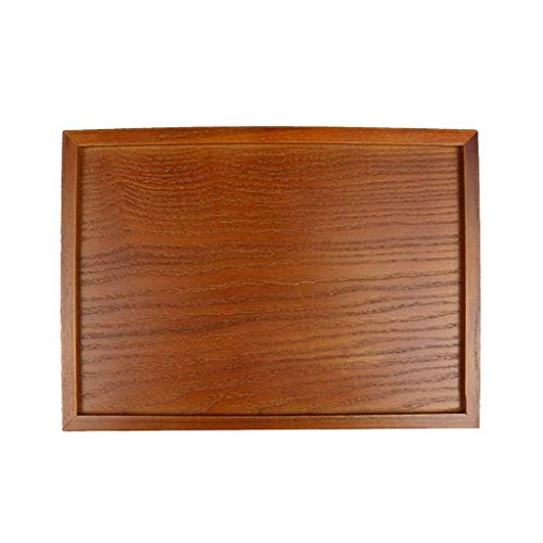 Storage Trays - Wooden Serving Tray Tea Dishes Plate Brown - Puzzle Counter Clear Divided Large Storage Kitchen Shelves Pantry Parts Organizer Paper Office Small Dividers Black Sort Draw