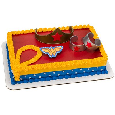 Wonder Woman Strength & Power Cake Decoration Kit (Wonder Woman Party Decorations)