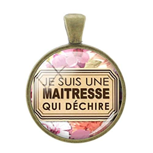 Cameo Gold Bracelet Slide (Pendants -1Pc Simple Merci Words Picture Pendants Charms French Thanks Handmade Fashion 25Mm Glass Bronze Plated Vintage Jewelry - Je01)