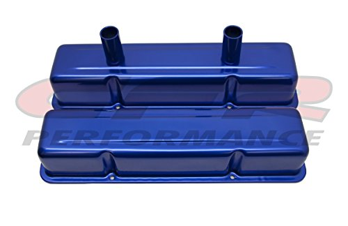 CFR HZ-8215-PBL Aluminum Stamped Tall Valve Covers Chevy Small Block Circle Track 283-400 - Anodized - Valve Track Circle Covers