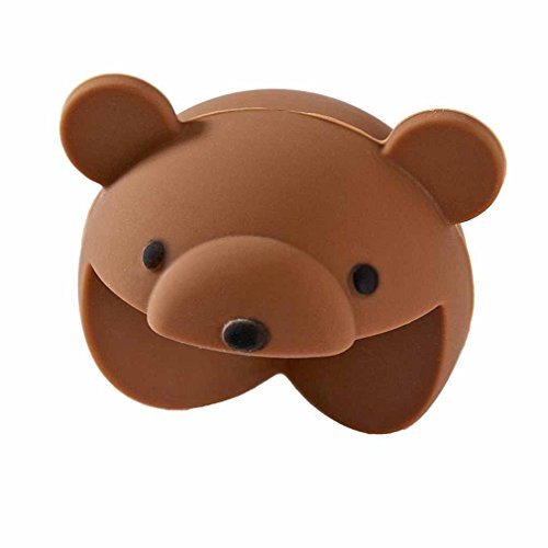 2PCS Cartoon Cute Animal Corner Cushions Baby Safety Table Desk Edge Protector Home (Bear) (Day Sofa Boxing Sales)