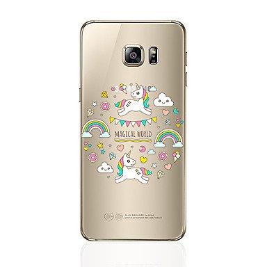 Casos hermosos, cubiertas, Para samsung galaxia s8 s8 más caja del teléfono patrón transparente unicornio patrón suave tpu para samsung galaxia s7 s6 borde más s6 ( Modelos Compatibles : Galaxy S6 Edg Galaxy S4
