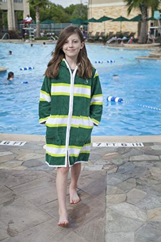 Sizes 2-12 Blue Water Nation Kids Cotton Beach Cover-Up Hooded Robe