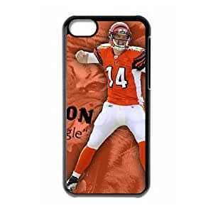 NFL iPhone 5c Black Cell Phone Case Cincinnati Bengals PNXTWKHD0469 NFL Custom Phone Case Covers Clear