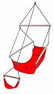 The Pyrch Red Hammock Relaxation Chair with Storage Tube