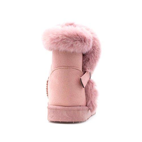 Chatterbox Mädchen rosafarbene Faux Veloursleder-Aufladung durch Pink