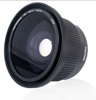 XM2 GL1 .42x HD Super Wide Angle Panoramic Macro Fisheye Lens For The Canon GL2 XM1 Mini Dv Camcorders