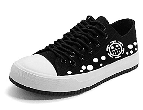 Bromeo One Piece Unisex Segeltuch Low-Top Sneaker Trainer Schuhe Leuchtend
