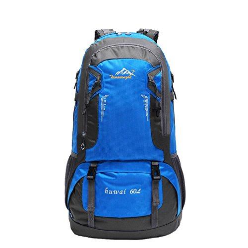 """Fulltime (TM)–�?0L senderismo bolsa Camping bolsa de viaje impermeable mochila montañismo paquete camuflaje, hombre mujer Infantil, naranja, 61cm x 37cm; (inch):24"""" x 14.5'' azul"""