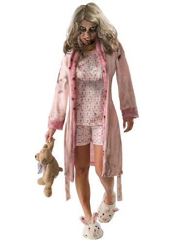 Zombie Girl Costume Walking Dead (The Walking Dead TV Show Teen Little Girl Zombie Costume, Multicolored, Teen Standard)