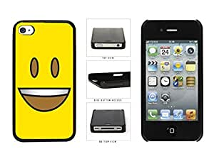 Bright Yellow Eyes Open with Teeth Face Plastic Phone Case Back Cover Apple iPhone 4 4s