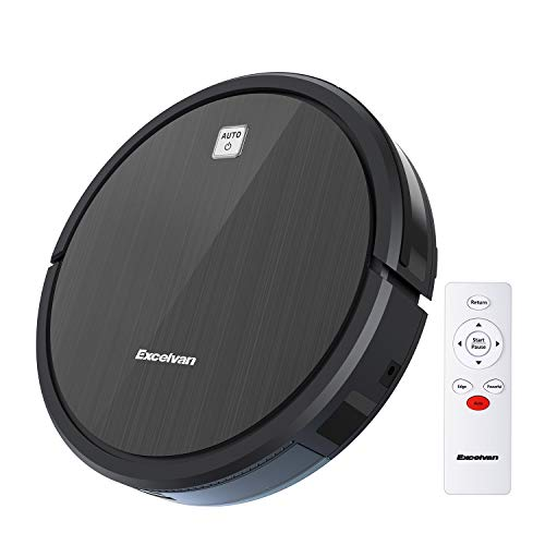 EXCELVAN 1600Pa Robotic Vacuum Cleaner with Self-Charging 120 Mins Battery Life, 4 Cleaning Modes, 360° Anti-Collision & Drop Smart Sensor, Perfect for Pet Hair Carpets and Hard Floors