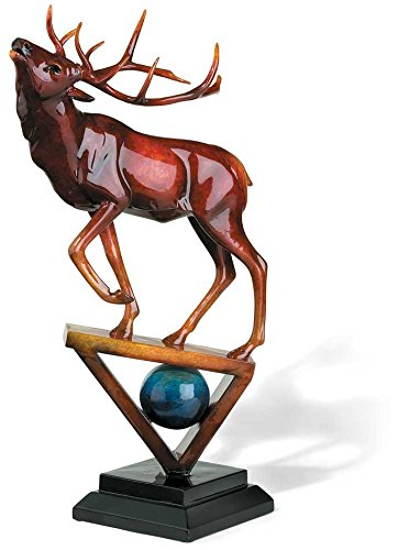 Praise - Elk Imago Sculpture in Ruby by Stephen Herrero
