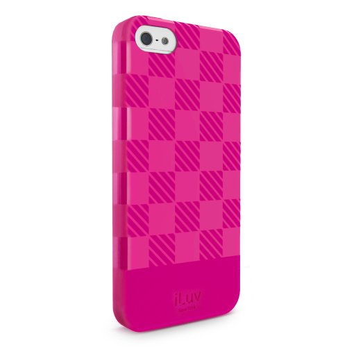 Iluv Gelato Case (iLuv Gelato Checker TPU Case for iPhone 5S - Retail Packaging - Pink)
