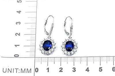 Jewelry 925 sterling silver Drop Earrings jewelry earrings with Sapphire CZ Crystal Earrings For Women BY YUPENGDA