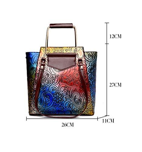 Borsa cinese XLF Borsa tracolla Trend a the a Fashion Donna Capacity unica mano tracolla Borsa Large Retro Stile Taglia a xYr7drqnwE