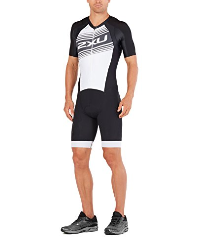2XU Mens Comp Full Zip Sleeved Trisuit