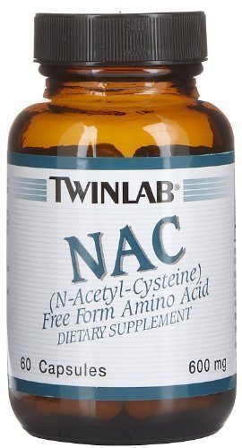 Nac N-Acetylcystien 600Mg By Twinlab - 60 Cap, Pack of - 600 Nac Mg 60 Caps