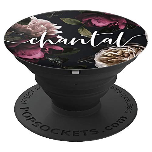 - Chantal - Elegant Floral Personalized Girls First Name - PopSockets Grip and Stand for Phones and Tablets