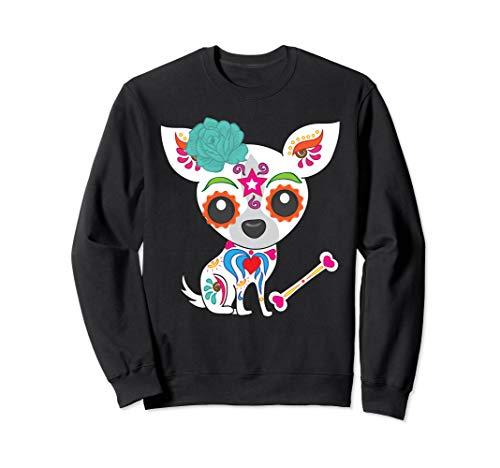 Mexican Sugar Skull Chihuahua Sweatshirt