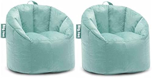 Big Joe Milano Bean Bag Chair Filled with UltimaX Beans Mint Plush PACK OF 2