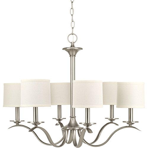 Progress Lighting P4739-09 Traditional/Casual 6-60W Cand Chandelier, 97 x 30 x 22, Brushed Nickel