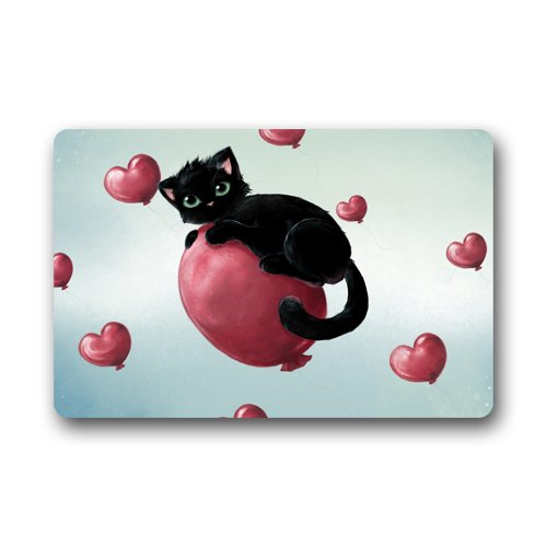 Halloween door mats - Halloween Doormat Decor Sweetheart Cat Customized Print Door Mat