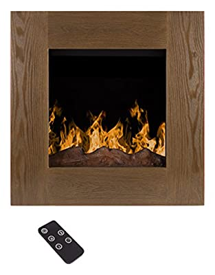 Electric LED Fireplace- Wall Mounted with 13 Backlight Colors, 10 Flame Colors, Timer and Remote Control NO HEAT- 24 inch by Northwest