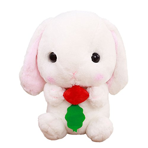 Cuddly Soft Stuffed Animal Toy Easter Rabbit Radish Bunny Do