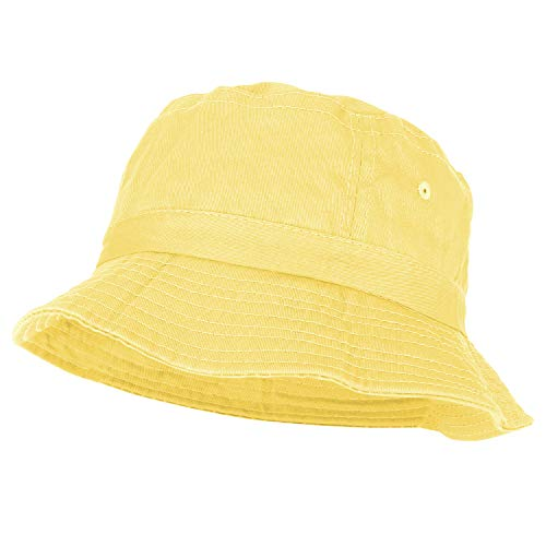 Yellow Bucket Hat - Armycrew Youth Pigment Dyed Washed 100% Cotton Bucket Hat - Yellow